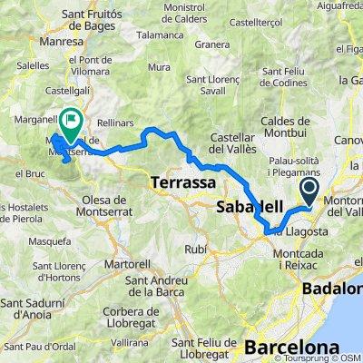 Mollet-Sant Julià d'Altura-Matadepera-Vacarisses-Monistrol-Montserrat-Monistrol