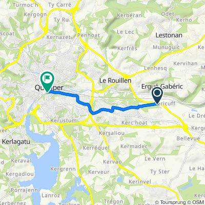 De 6 Chemin de Keraudren, Quimper à 13 Rue Sainte-Thérèse, Quimper