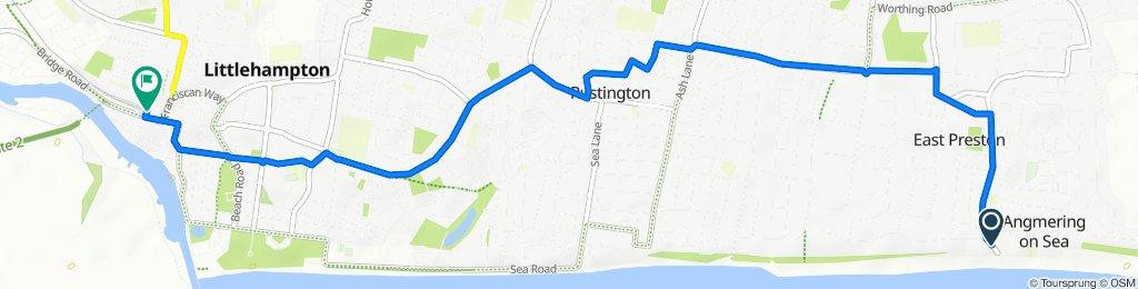160 Sea Road, Littlehampton to Terminus Road, Littlehampton
