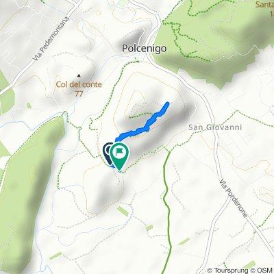 Da Località Colle di San Floriano 3–63, Polcenigo a Via del Parco, Polcenigo