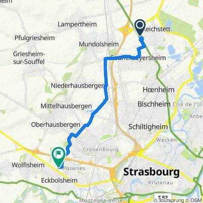 De 1A Rue de la Bruche, Reichstett à Rue Paul Rohmer, Eckbolsheim