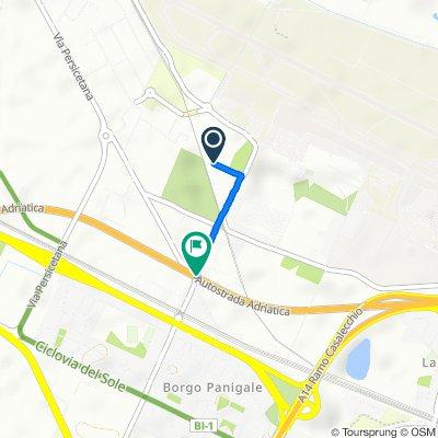 Da Via Sant'Agnese 11, Borgo Panigale a Autostrada Adriatica, Borgo Panigale
