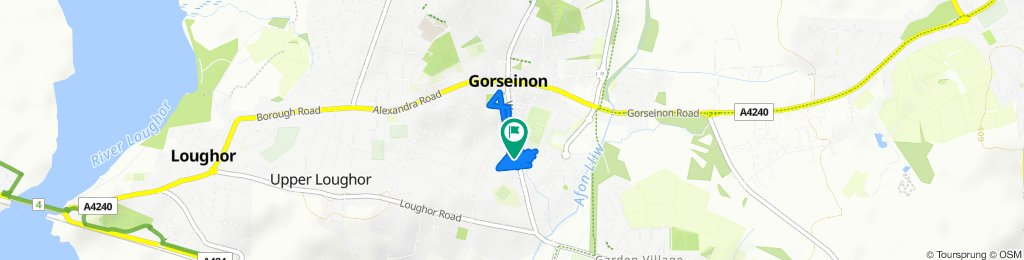 Relaxed route in Gorseinon