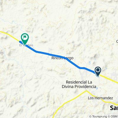 De Llano San Juan, La Peña a Interamericana, Rodeo