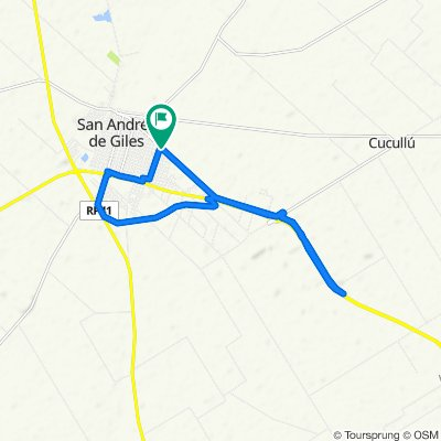 De Avenida Lucas Scully, San Andrés de Giles a Avenida Lucas Scully, San Andrés de Giles