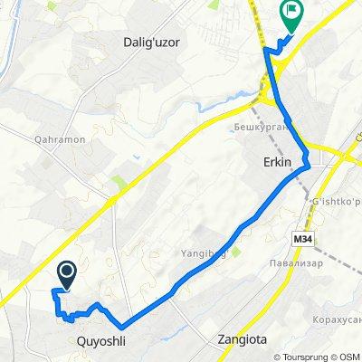 маршрут с Unnamed Road, Куешли