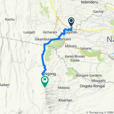 Cedar Road, Kikuyu to Unnamed Road