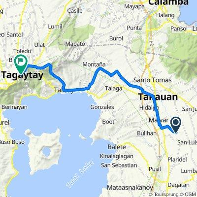 Unnamed Road, Malvar to Tagaytay Rotonda, Lungsod ng Tagaytay