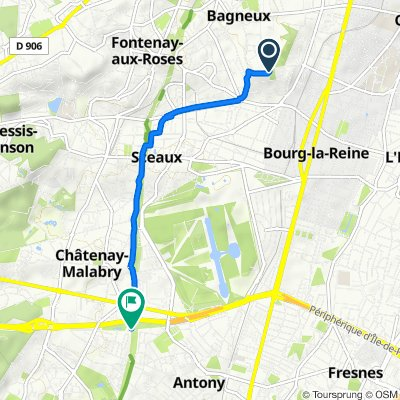 Moderate route in Châtenay-Malabry