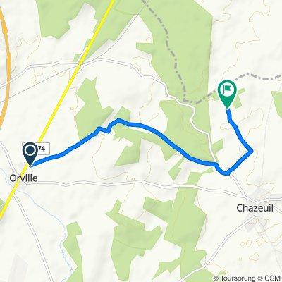 De Route Nationale 74 41, Orville à Unnamed Road, Chazeuil