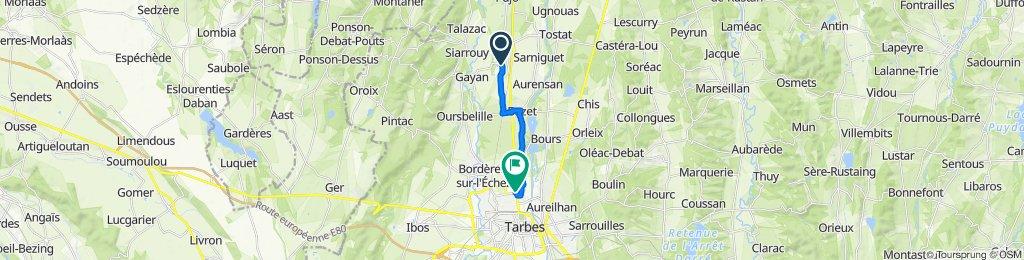 De 10 Place des Pyrénées, Andrest à 87 Avenue Alsace-Lorraine, Tarbes