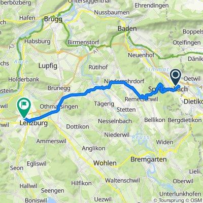 Route von Müslistrasse 16, Spreitenbach
