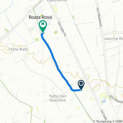 Da Via Valle Po 157, Cuneo a Via Antica di Busca 122a, Roata Rossi