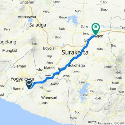 Route to Jalan Anggrek, Sragen