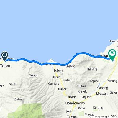 Route from Jalan Raya Paiton, Probolinggo