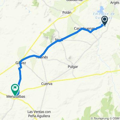 De Calle del Águila Real, 98, Layos a Calle del Arroyo Perrito, 42, Menasalbas