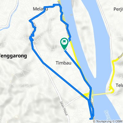 Jalan Jelawat 3, Kecamatan Tenggarong to Jalan Jelawat 3, Kecamatan Tenggarong