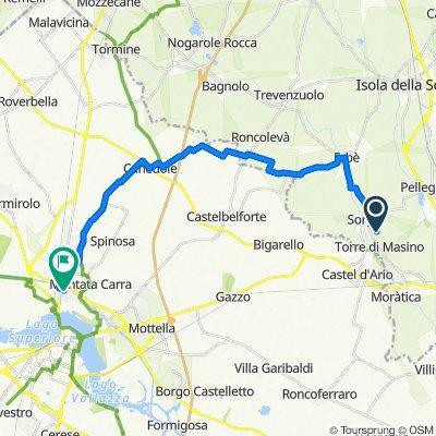 Da Trav. Via Torre Masino 1, Sorgà a Via Piero Gobetti 5, Mantova
