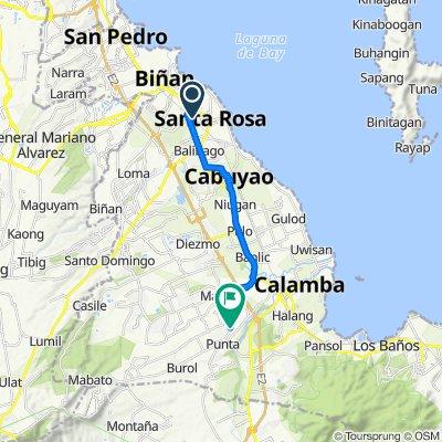 Unnamed Road, Santa Rosa to Unnamed Road, Calamba