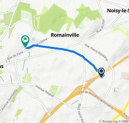 De 8 Rue de la Fraternité, Romainville à 6 Rue Paul Langevin, Romainville