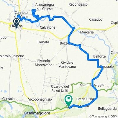 Da Via Amendola 4, Piadena a Via Vespasiano Gonzaga 53, Sabbioneta