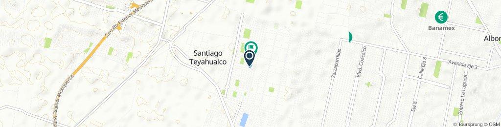 De Hacienda Real de Tultepec Oriente 199A, Santiago Teyahualco a Hacienda Real de Tultepec Oriente 203A, Santiago Teyahualco