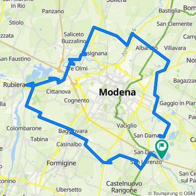 giro del Comune di Modena durante il Covid