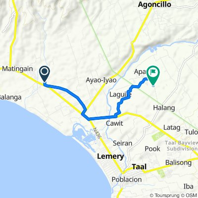 Route to Purok Centro, Taal