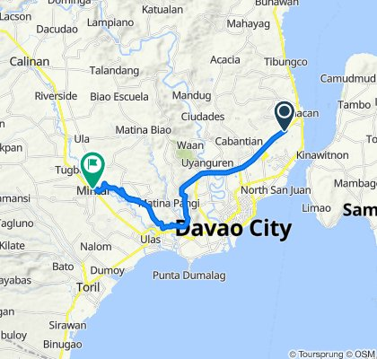 Daang Maharlika Highway, Davao City to Davao - Buda National Highway, Davao City