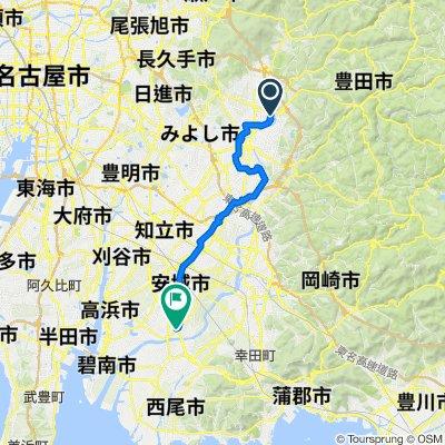 123, Hiratobashicho Jinden, Toyota-Shi to 県道44号, Anjo-Shi