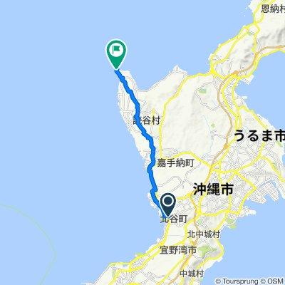 Route from 998, Kuwae, Chatan-Cho, Nakagami-Gun