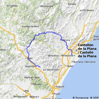 Villareal-L'Alcora-Montanejos-Segorbe