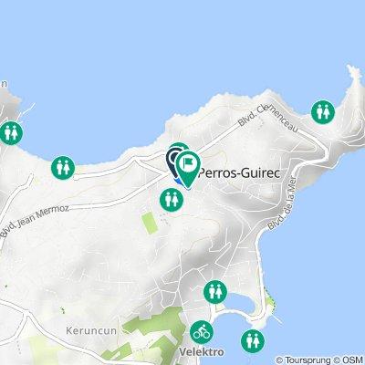 14 Rue du Général de Gaulle, Perros-Guirec to 142 Place de l'Église, Perros-Guirec