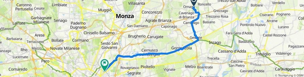 Da Via Roncello, Ornago a Via Padova 92, Milano
