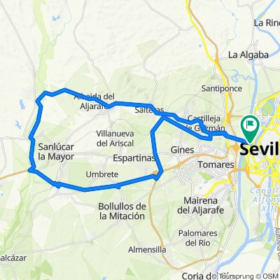 SEVILLA-ALBAIDA-CORREDOR VERDE DEL GUADIAMAR-BENACAZÓN-SEVILLA