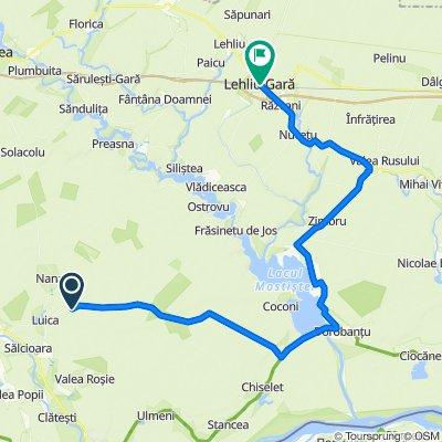 DJ403 to Strada Libertăţii 4, Lehliu-Gară