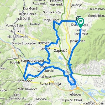 Bistra Pušća Lužnica Brdovec Medsave Samobor Rakitje road gravel 51,5 km