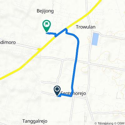 Jalan Cenderawasih 24, Kecamatan Mojoagung to Gang I, Kecamatan Trowulan