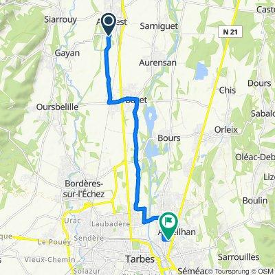 De 5 Place des Pyrenees, Andrest à 9 Parc du Batan, Aureilhan