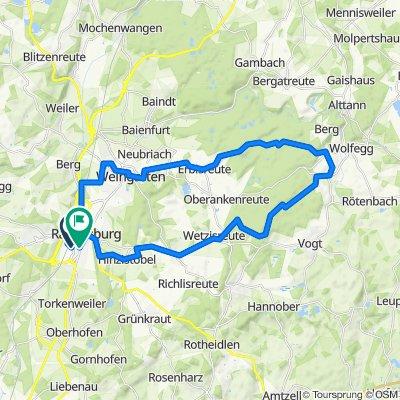 Ravensburg - Wolfegg - Wetzisreute - Runde