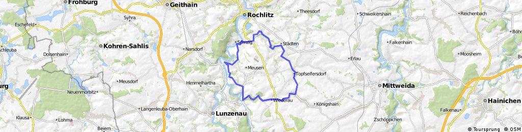 Von Wechselburg über Seelitz ins Wiedertal