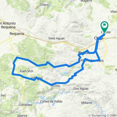Cheste-Buñol-Yatova-La Portera-El Oro-Turis
