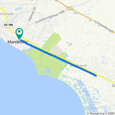 Girod Street 639, Mandeville to Girod Street 639, Mandeville