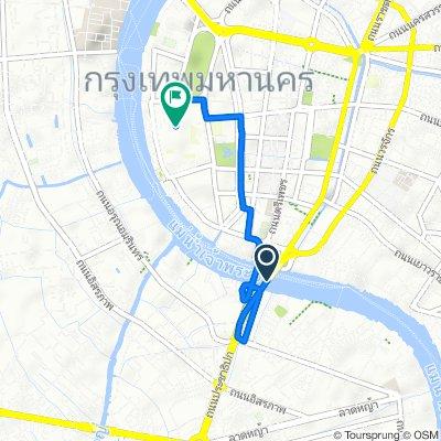 Route from Thanon Phra Pokklao, Bangkok