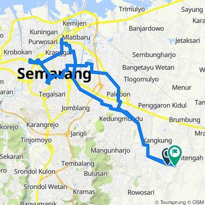 Rawa, Kecamatan Mranggen to Jalan KH. Hasan Masyhuri 32, Kecamatan Mranggen