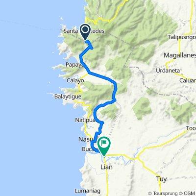Nasugbu Road, Maragondon to Nasugbu-Calatagan Road, Nasugbu