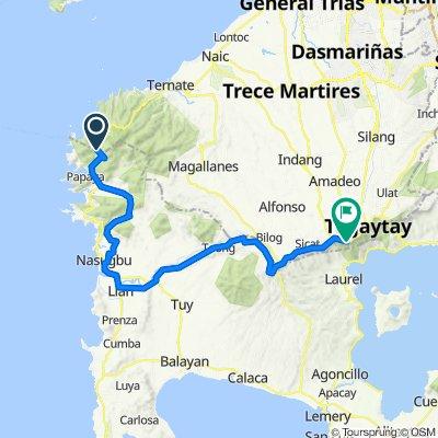 Nasugbu Road, Maragondon to General Emilio Aguinaldo Highway, Tagaytay  City