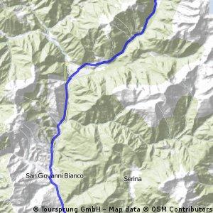 itinerario san pllegrino lenna branzi