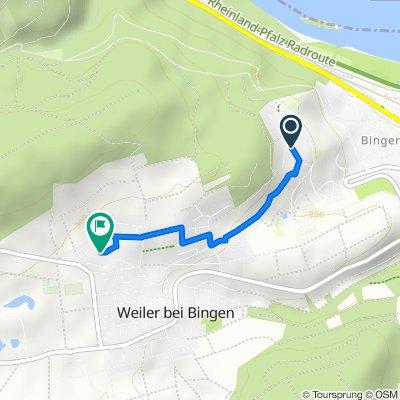 Elisenhöhe 56, Bingen am Rhein nach Hazechastraße 7, Weiler bei Bingen