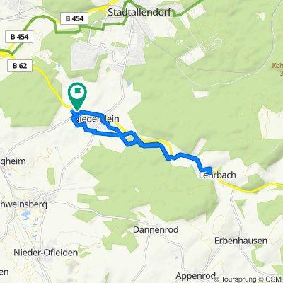 Hinter den Pfingstgärten 10, Stadtallendorf nach Hinter den Pfingstgärten 7, Stadtallendorf